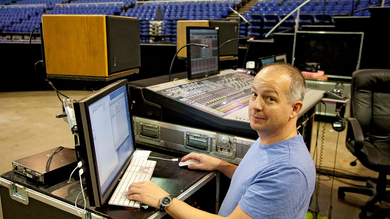 FOH Engineer Craig Doubet