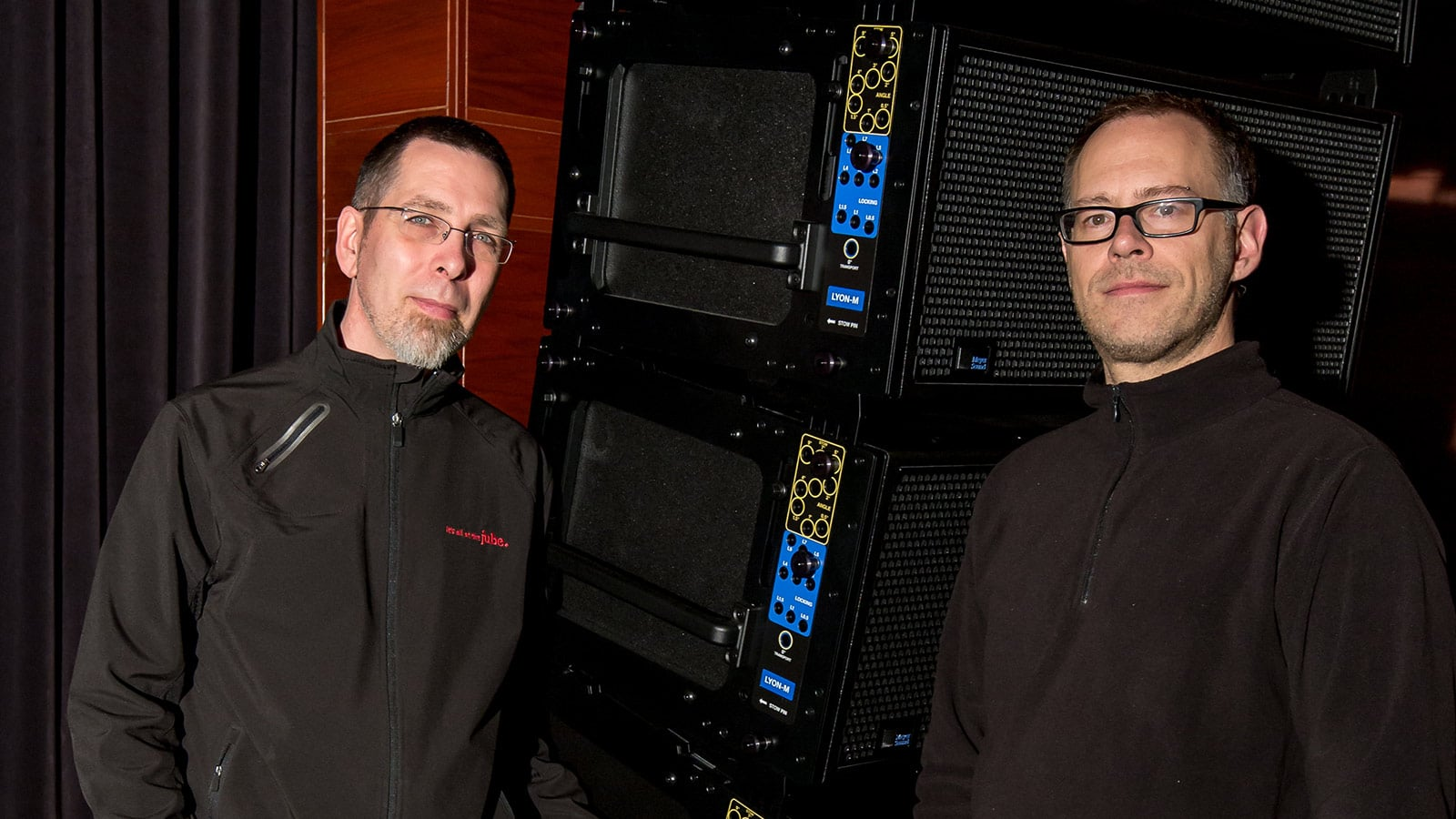 L: Paul Schmitz  R: Cory Papirny, Principal Audio Technician at NAJA