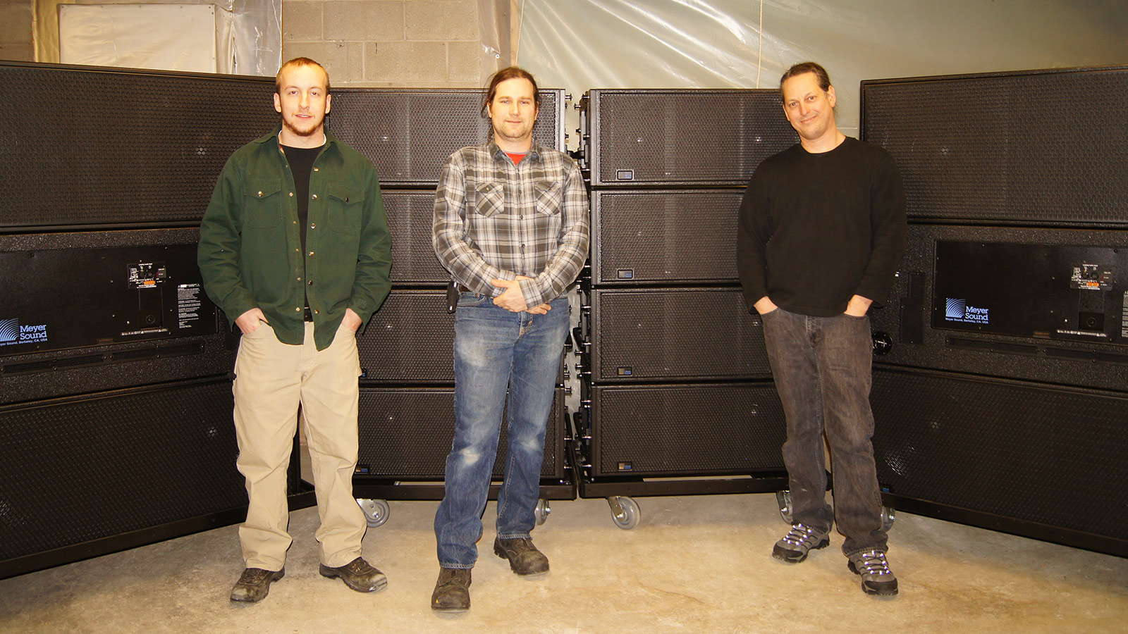 L to R: Cole Gamber, Systems Engineer; Mike Shoulson, Vice President; Dave Brotman