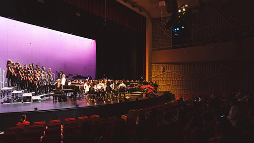 Constellation Serves Performances and Technical Education at Singapore American School