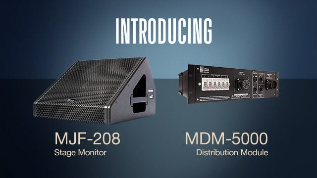 Meyer Sound Debuts MJF-208, MDM-5000 at Prolight + Sound 2016