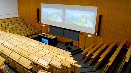 Steering the Sound: CAL at Swiss University Lecture Halls
