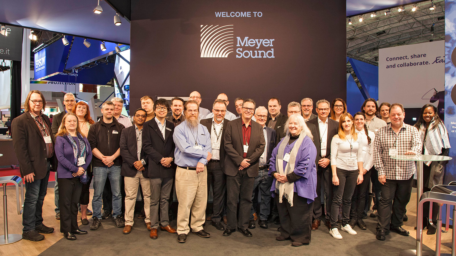 John, Helen, and the Meyer Sound team at ISE