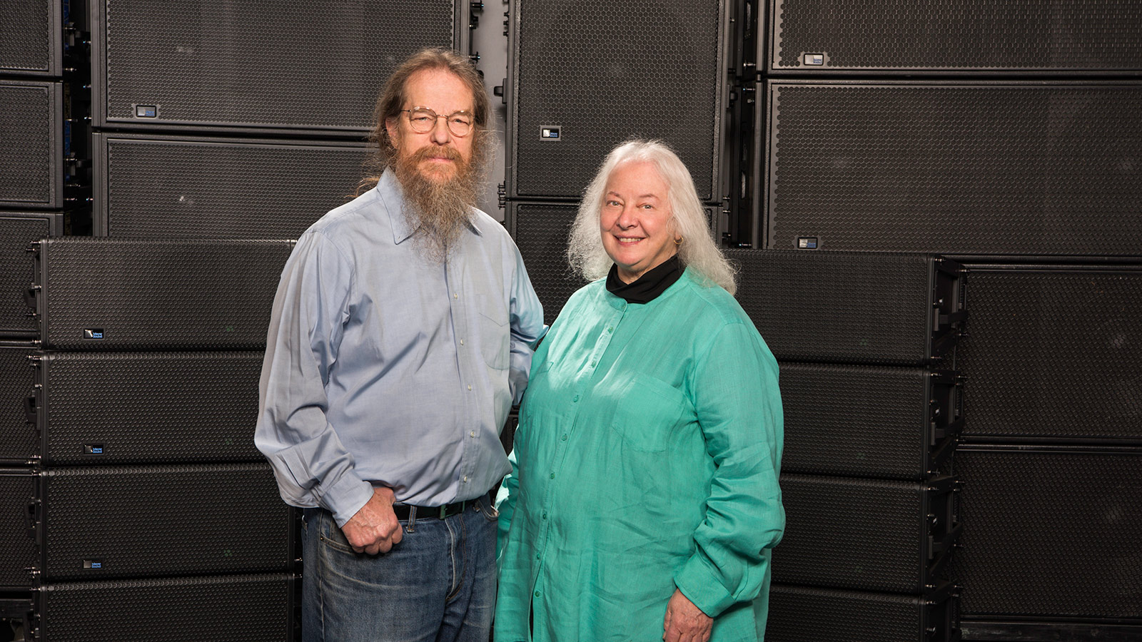 John and Helen recreate the historic Wall of Sound to celebrate the 50th anniversary of the Summer of Love