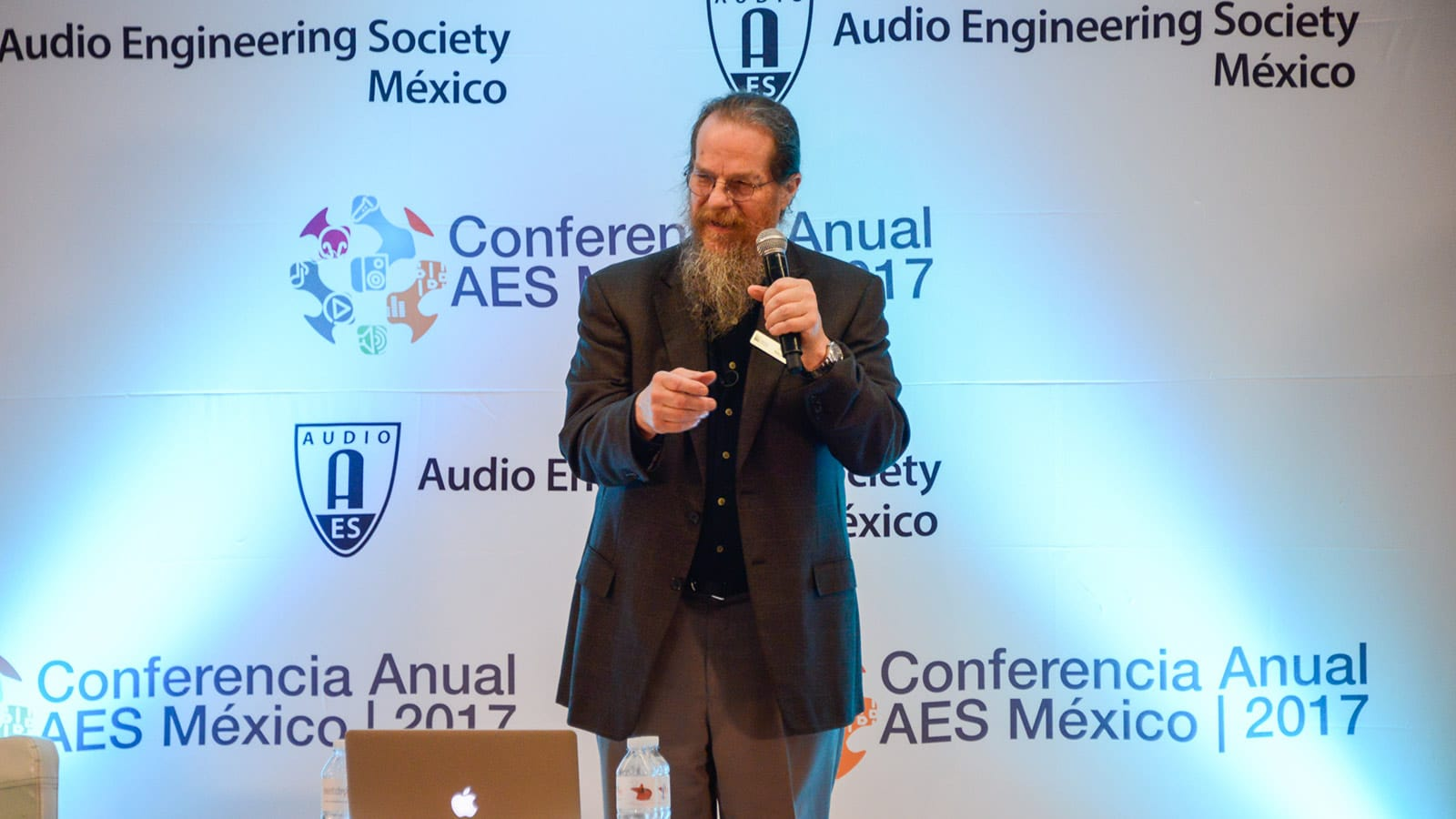 "John Meyer gives the keynote at AES Mexico Annual Conference entitled ""Fact or Science Fiction?"""