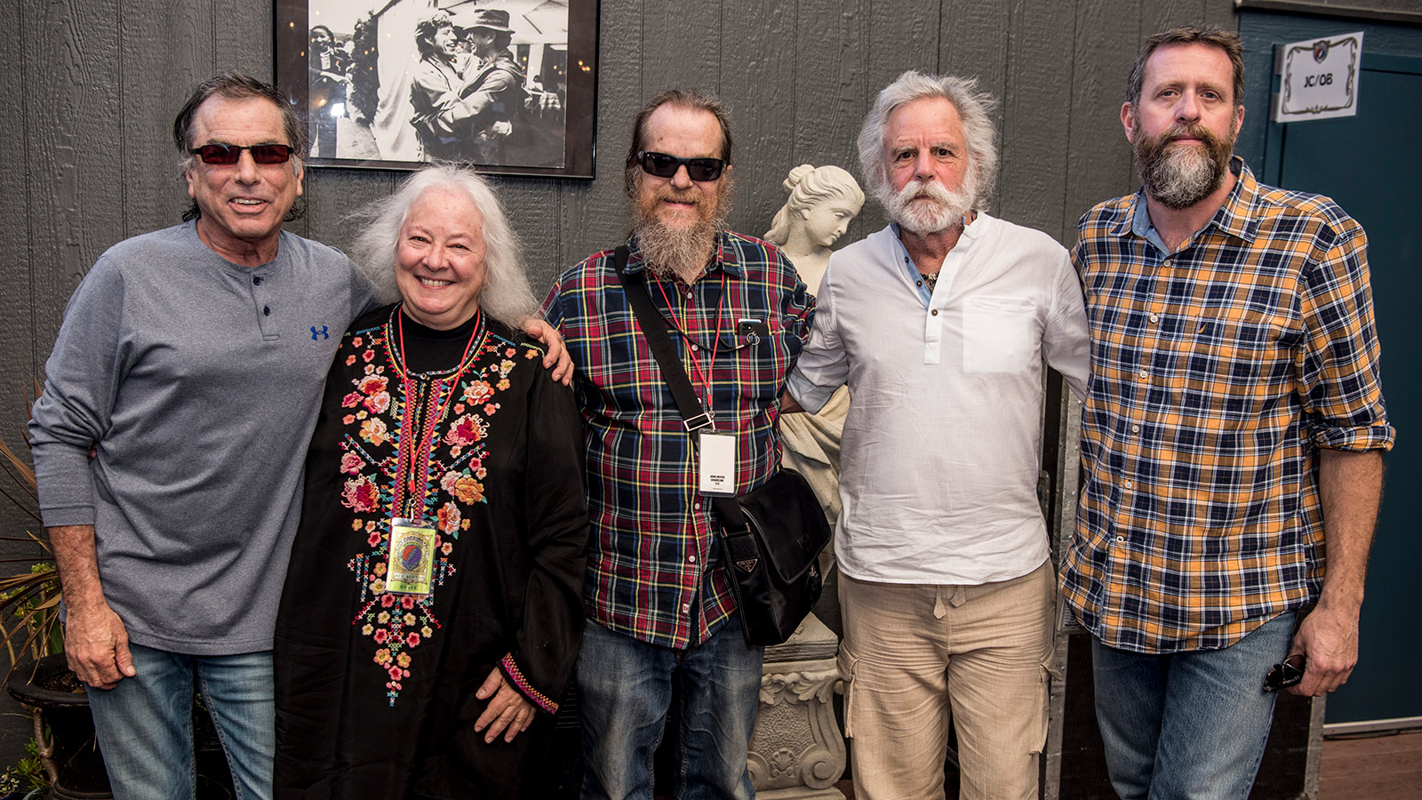 Left to Right: Mickey Hart, Helen Meyer, John Meyer, Bob Weir, Derek Featherstone
