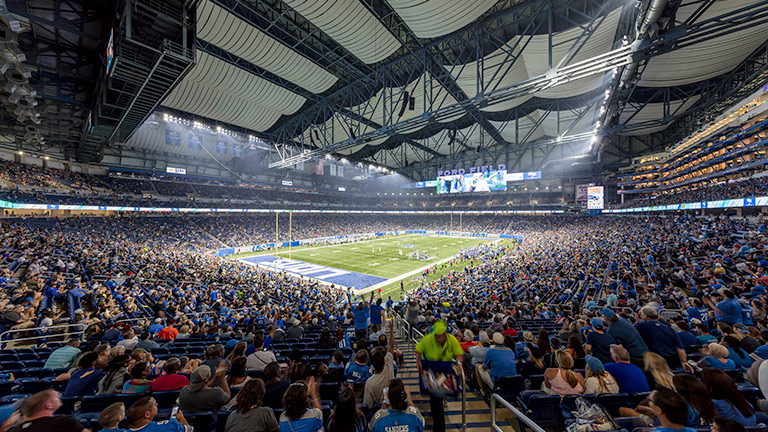 Detroit Lions Roar at Ford Field with LEO Family