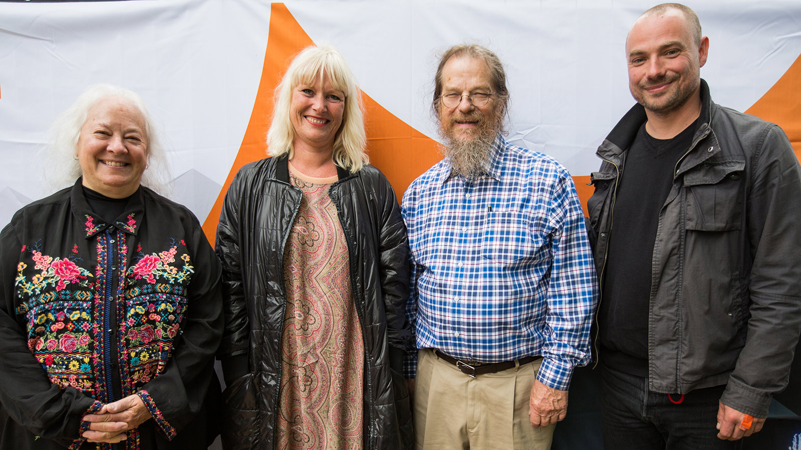 Left to right: Helen Meyer; Signe Lopdrup, CEO Roskilde Festival Group; John Meyer; Bertel Baagøe, Head of Production, Roskilde Festival