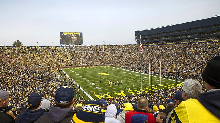 Meyer Sound SB-3F at University of Michigan Stadium