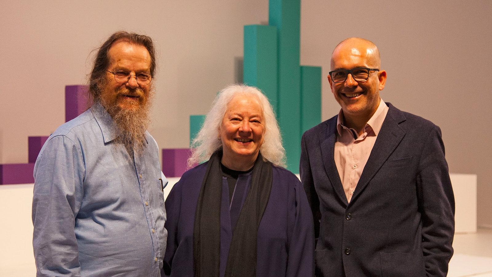 Left to Right – John Meyer, Helen Meyer, Pedro Gadanho, Director of MAAT
