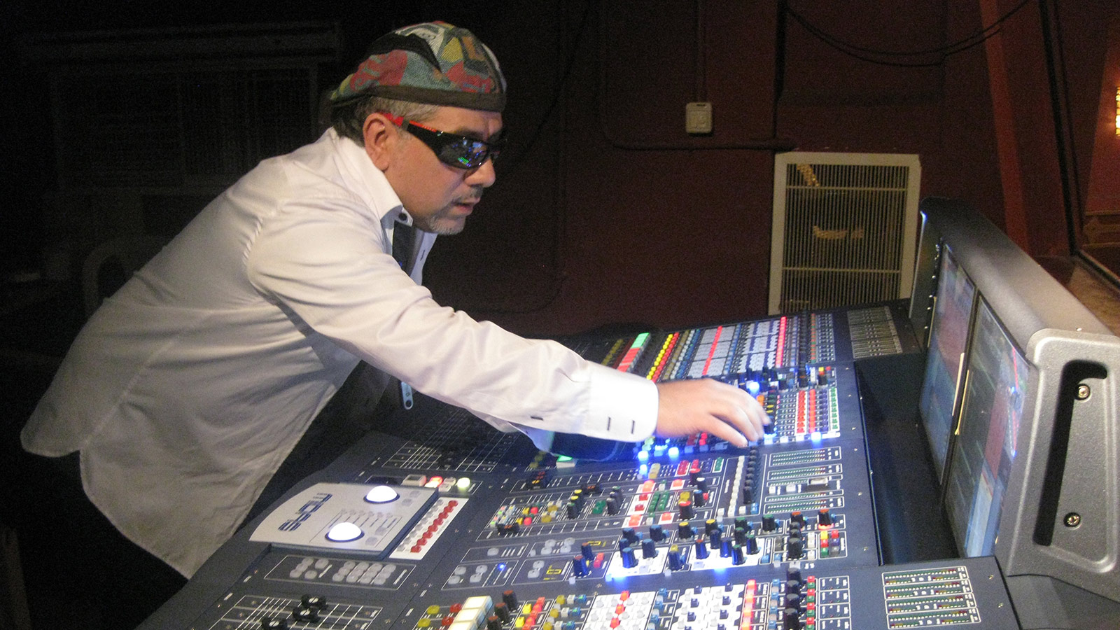 Tony Khoury, head audio engineer