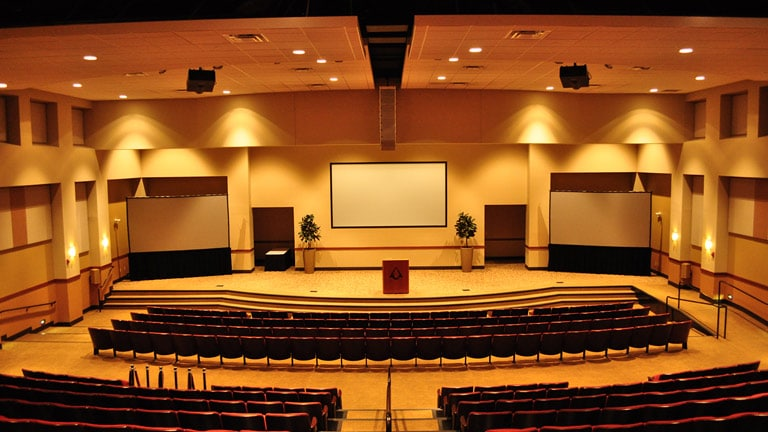 Prasco Auditorium with Meyer Sound MINA