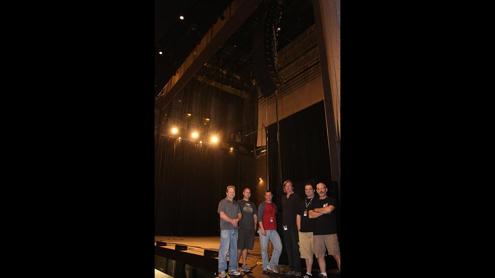 L to R: Rick Shimer, Ted Daniels (Blackhawk Audio), Ray Park (TPAC), Larry Bryan, Jeff Ent (TPAC), and Mac Whitley (TPAC)