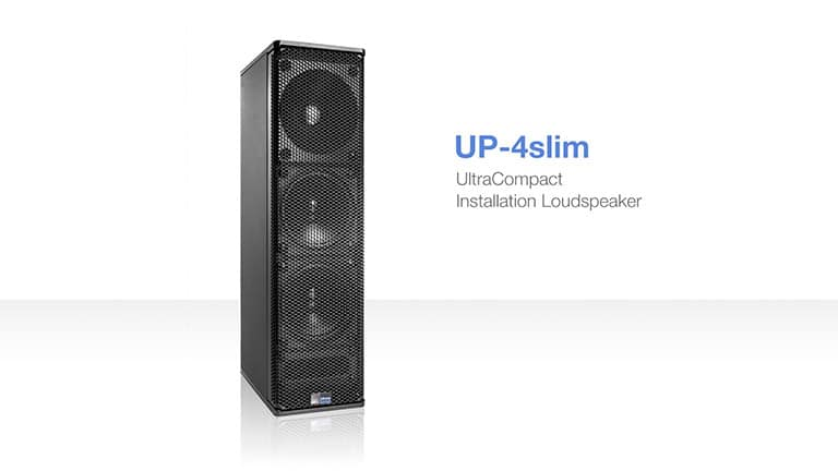 UP-4slim UltraCompact Installation Loudspeaker Debuts