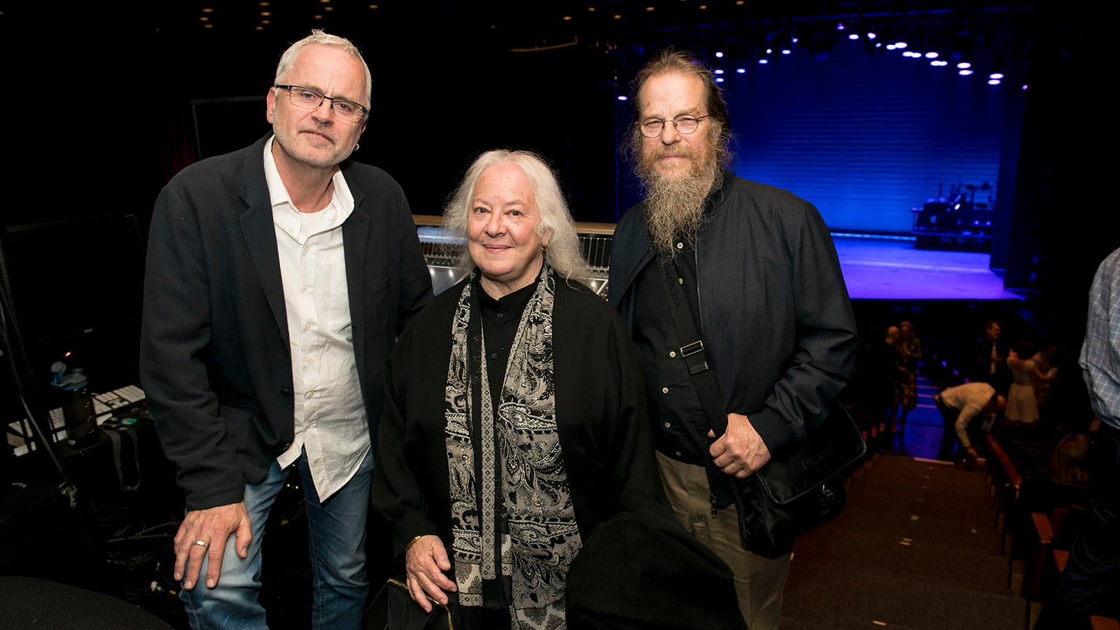 Left to right: Jonathan Deans, Helen Meyer, John Meyer