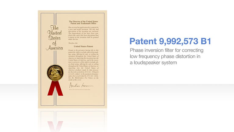 First Patent on Breakthrough Technology in Bluehorn System Studio Monitor