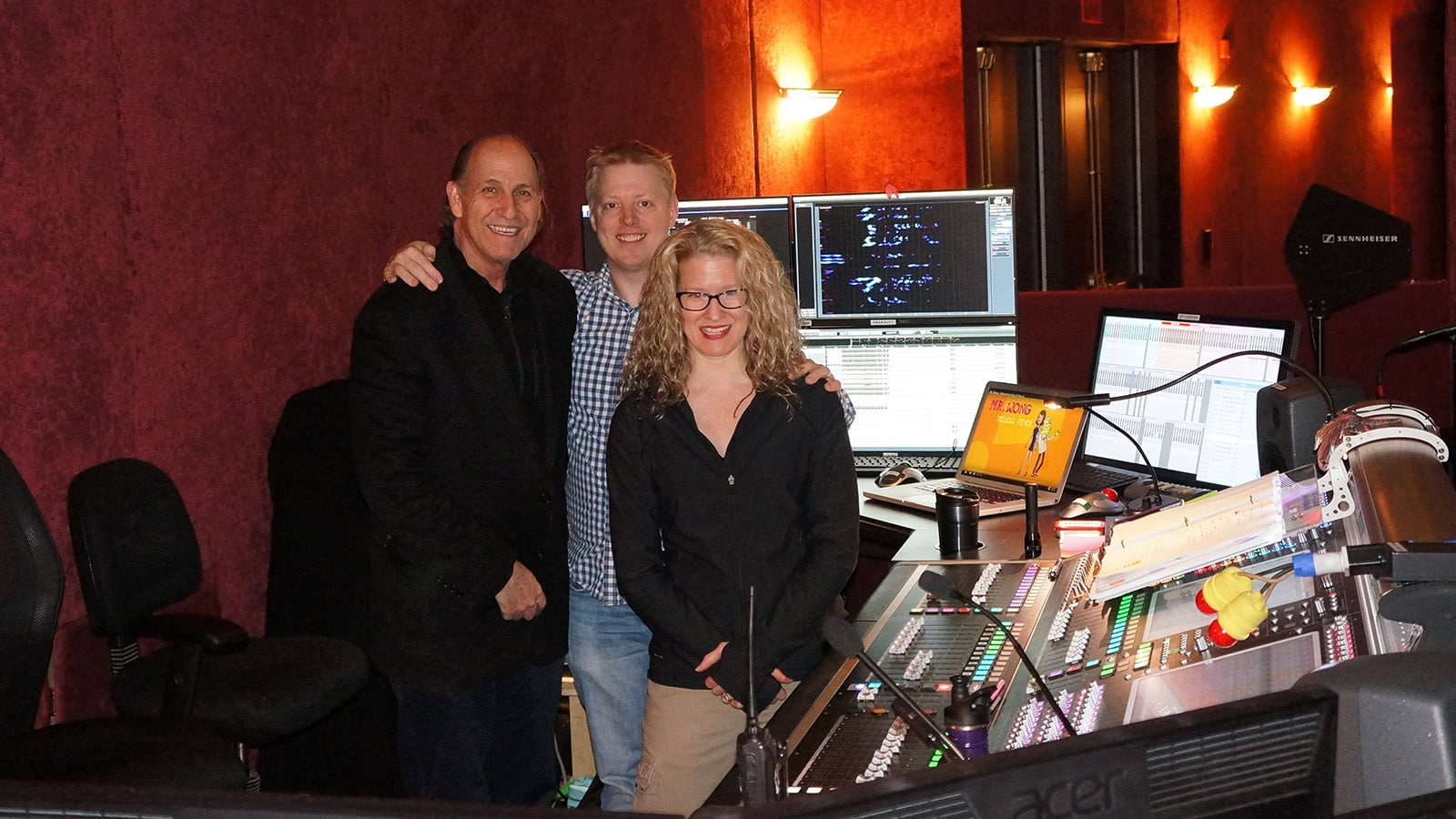 Left to Right: Steve Kennedy; Andrew Keister; and Julie Sloan, Mixer, On Your Feet