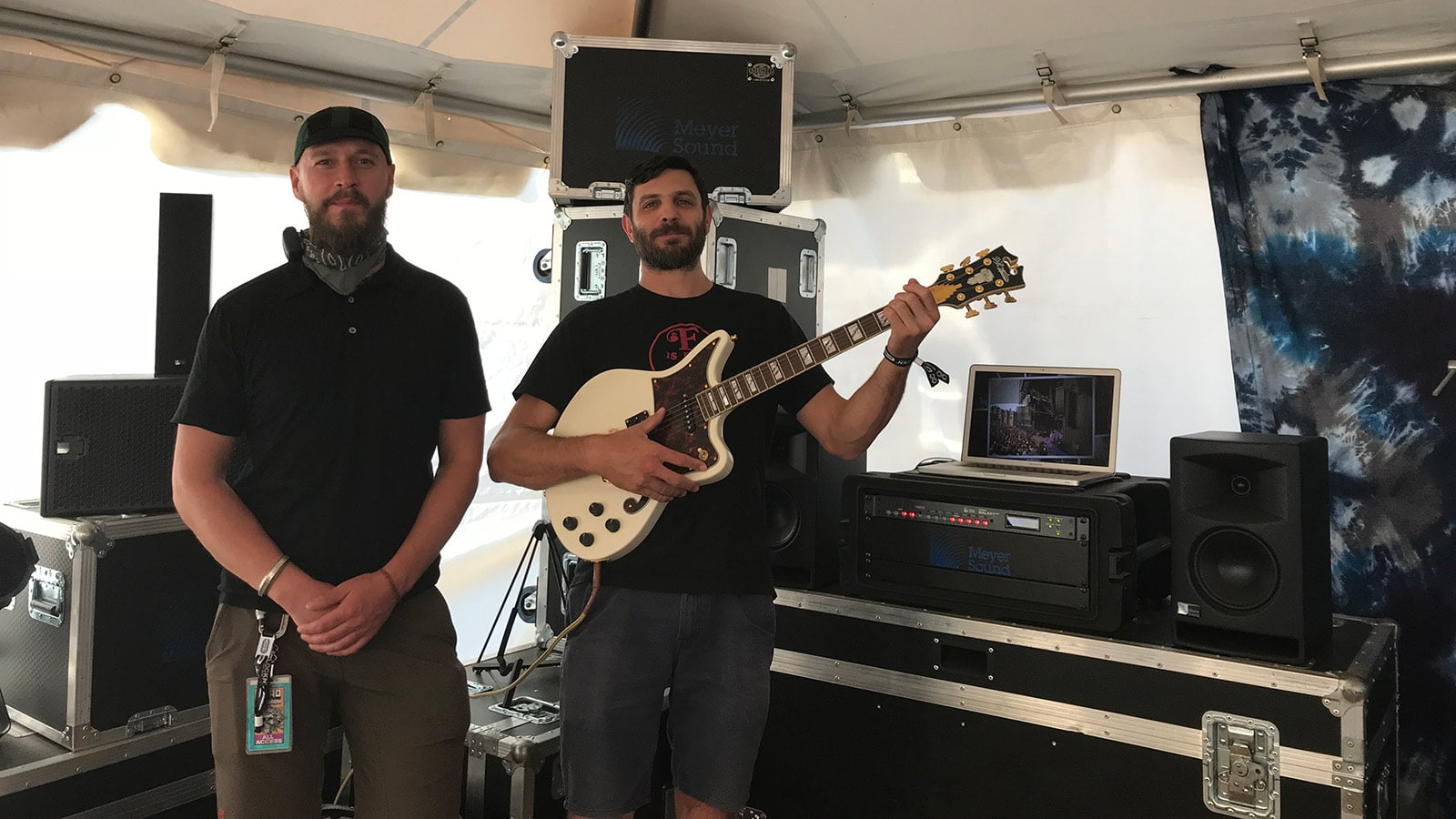 (L-R) Michal Kacunel, UltraSound Systems Engineer; Ross Harris, Dead & Company Recording Engineer