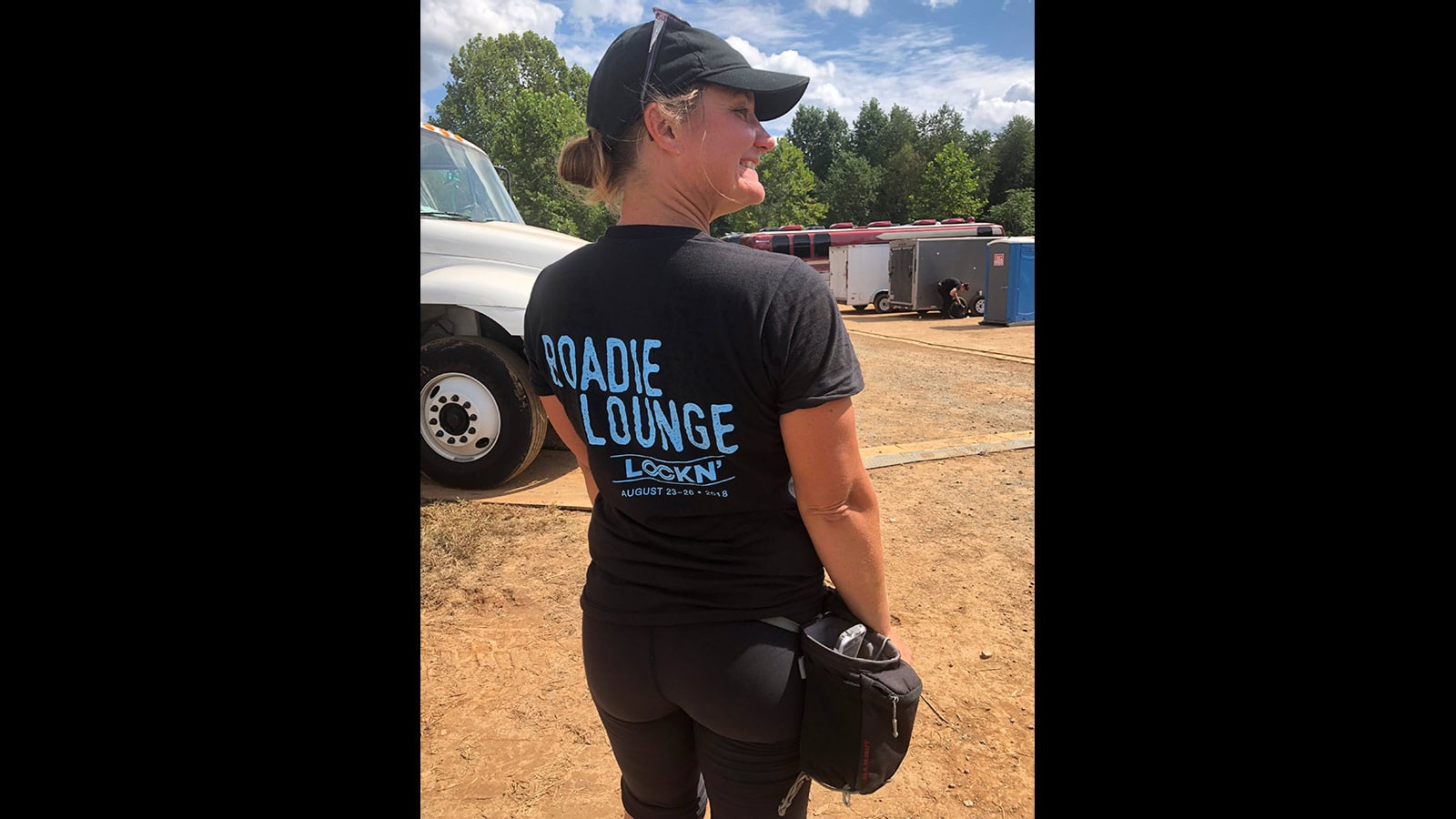 Becky Hall, New Orleans stage crew backstage at 2018 LOCKN' Festival