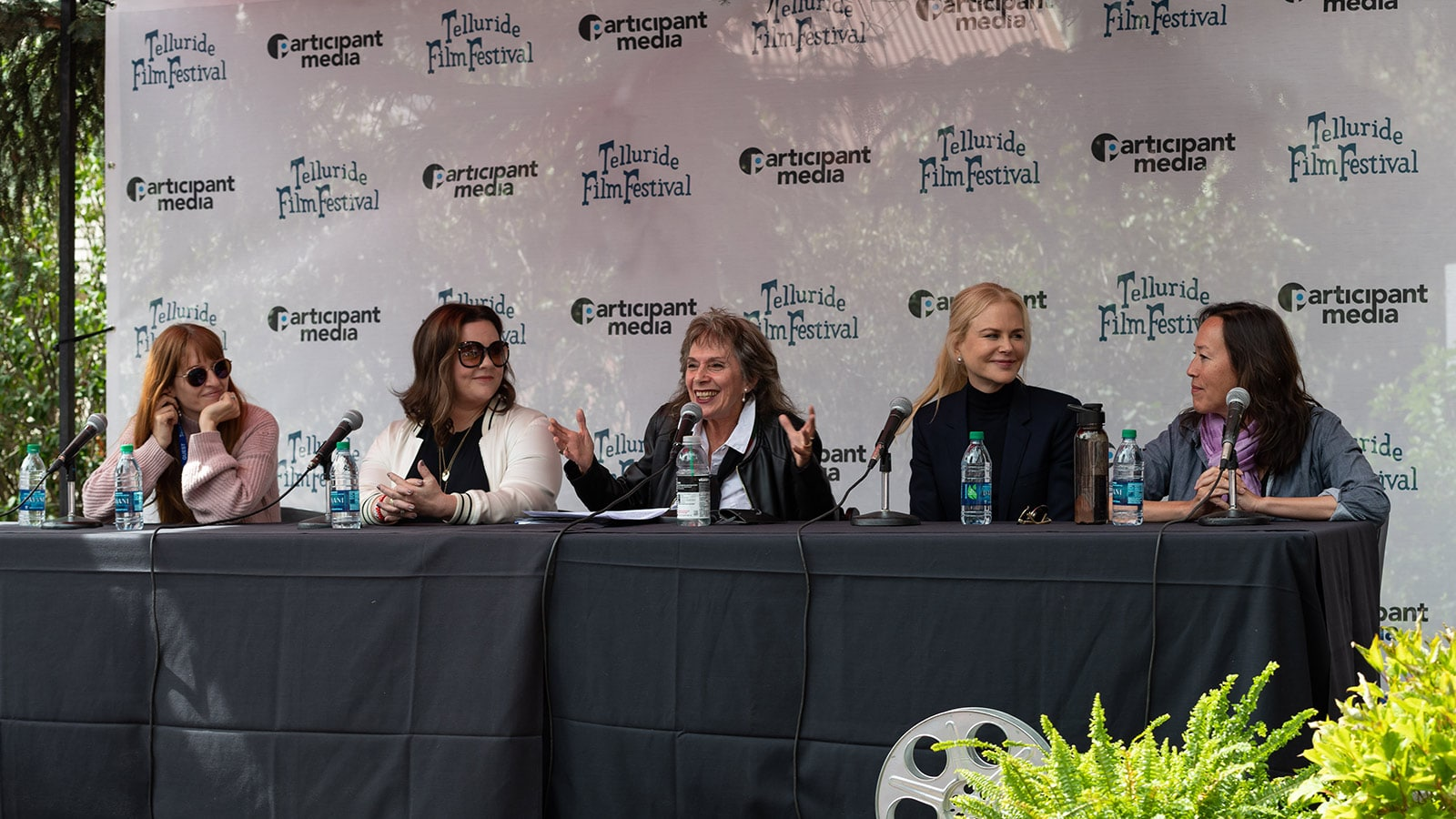 (L-R) Marielle Heller, Melissa McCarthy, Annette Insdorf, Nicole Kidman, and Karyn Kusama at Telluride panel discussion.