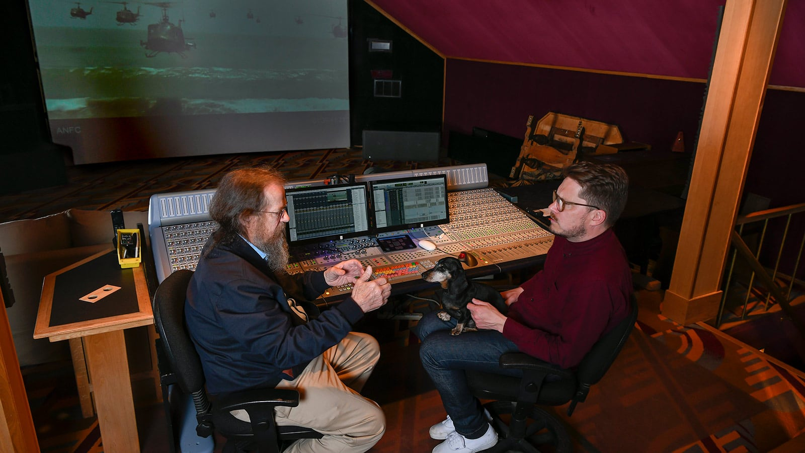 Meyer Sound President and CEO John Meyer and American Zoetrope Head Engineer Colin Guthrie