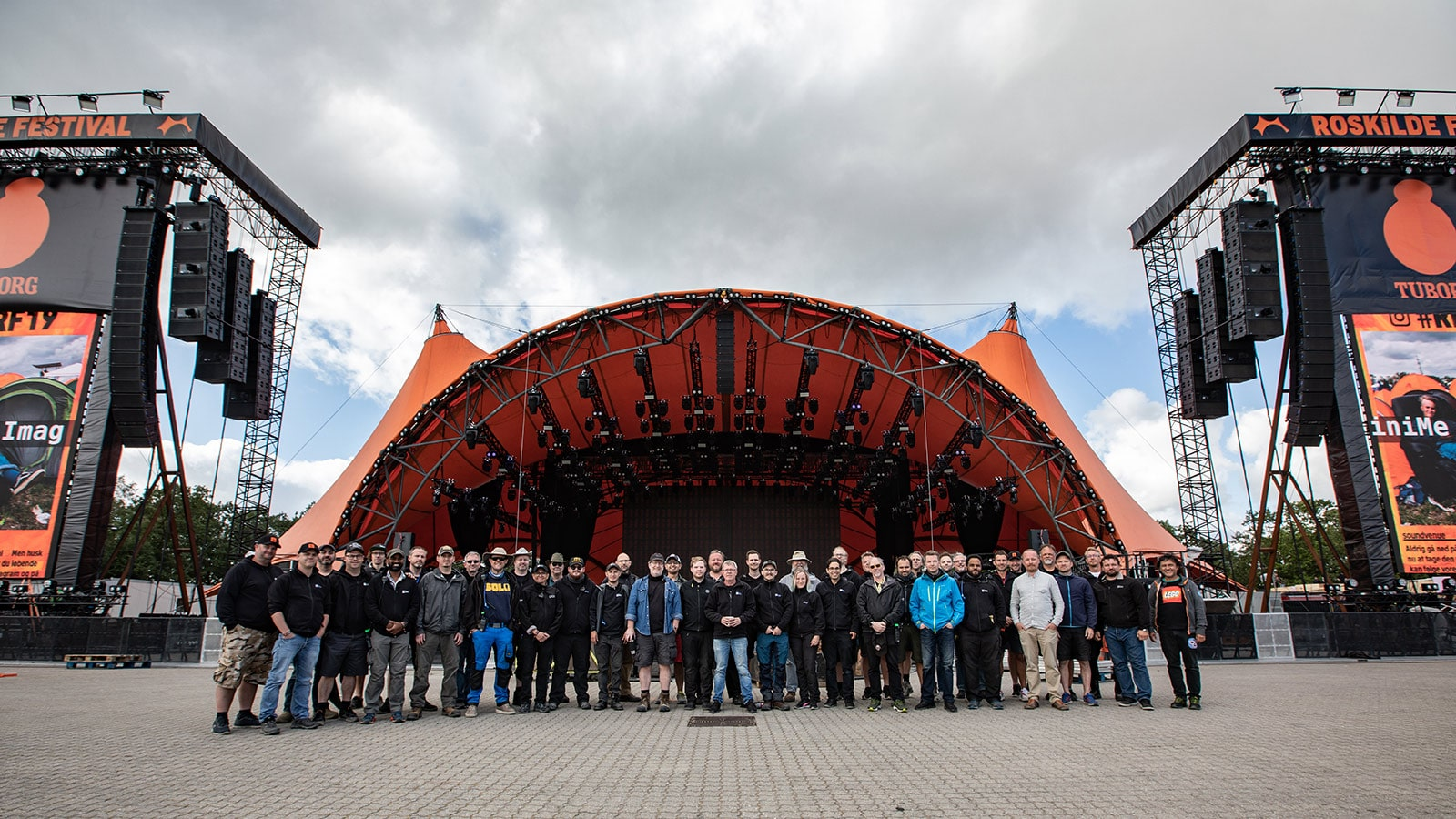 Meyer Sound, Bright Group, and Roskilde Festival Technical Crew