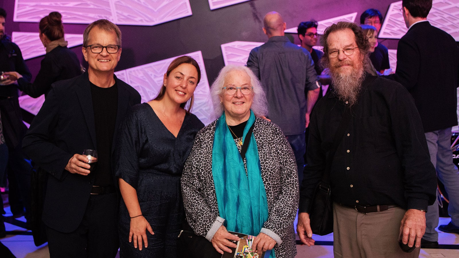 (L-R) Steve Ellison, Director, Spatial Sound, Meyer Sound; Paola Prestini, Co-founder and Artistic Director, National Sawdust; Helen Meyer and John Meyer, Co-founders, Meyer Sound