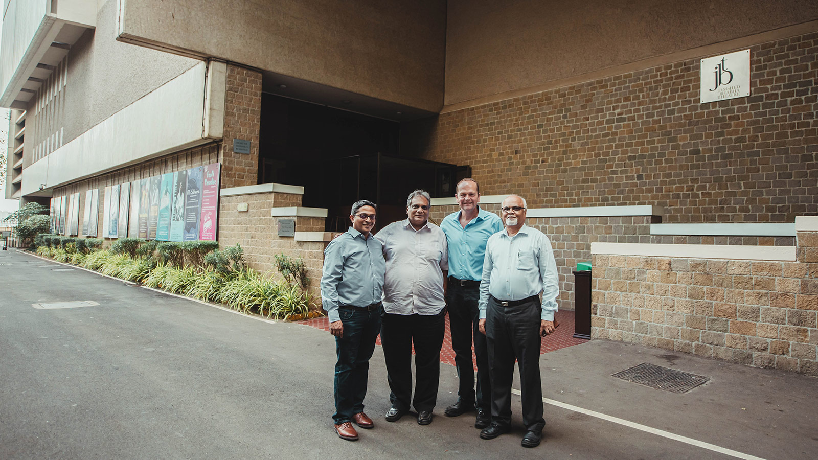 (L-R) Sandeep Braganza, Sales Manager SAARC, Meyer Sound; Nainesh Vora, Founder & Owner, Image Engineering; Richard Nowell, Owner, RNSS Ltd.; Nayan Kale, General Manager, Technical, NCPA
