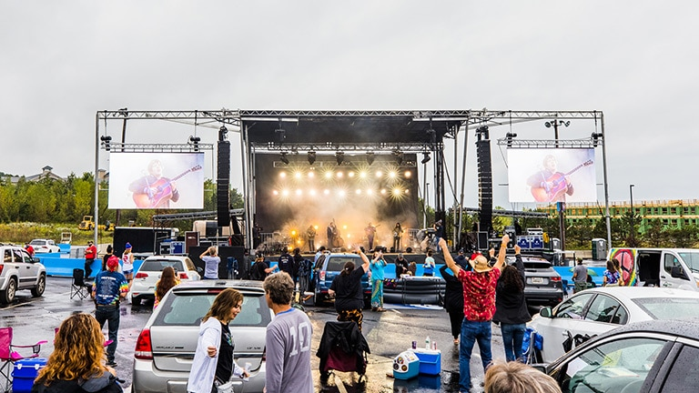 Billy Strings at the Drive-In with LEOPARD System Provided by DBS Audio Systems
