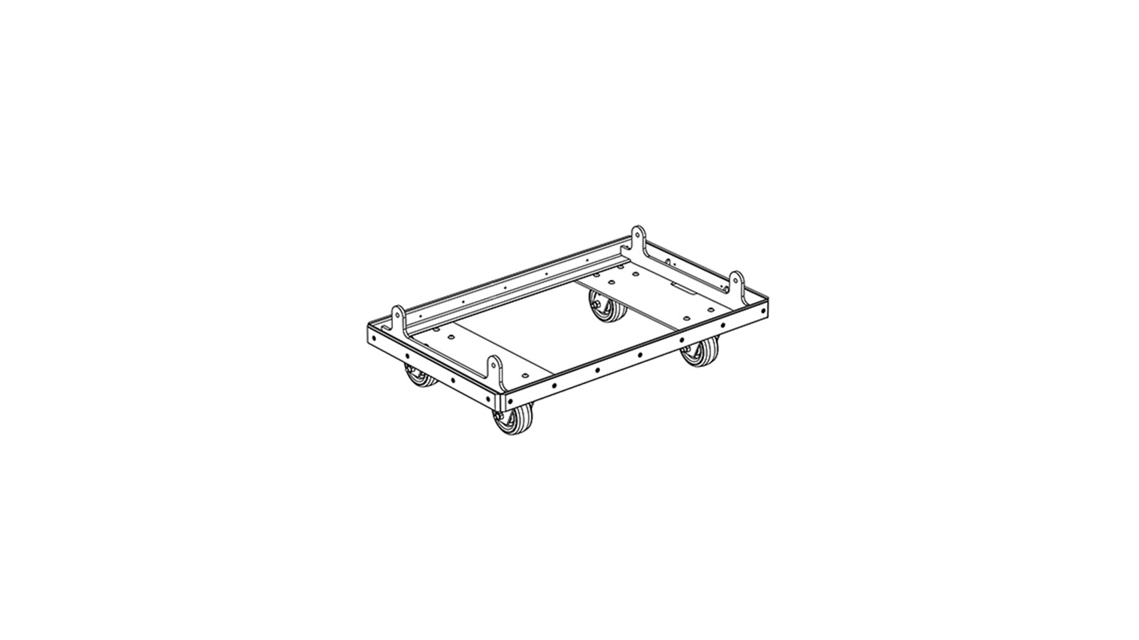 caster frame kit - used to transport up to 4 lyon highpart number:  40 232 045 01